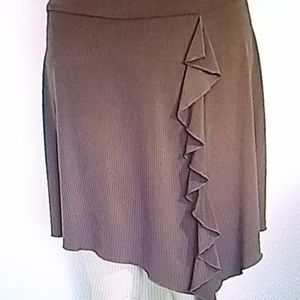 Speechless Brown asymmetrical Slinky skirt
